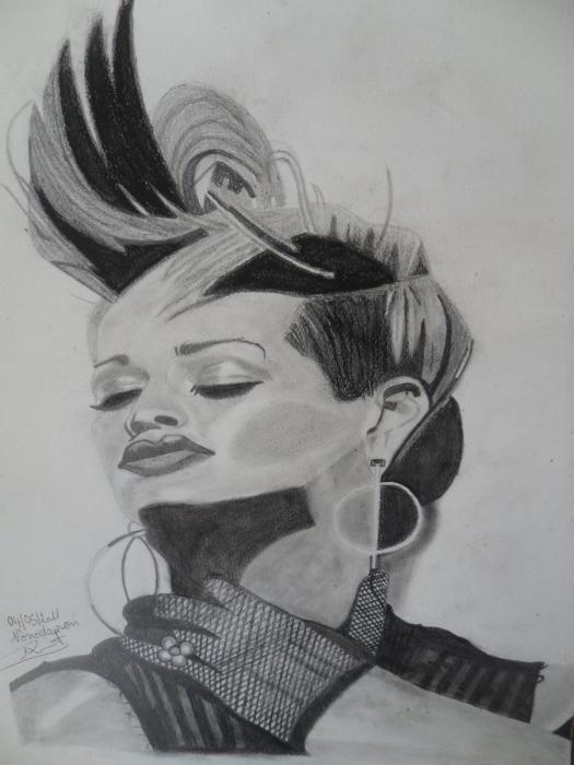 Rihanna by nonodauren